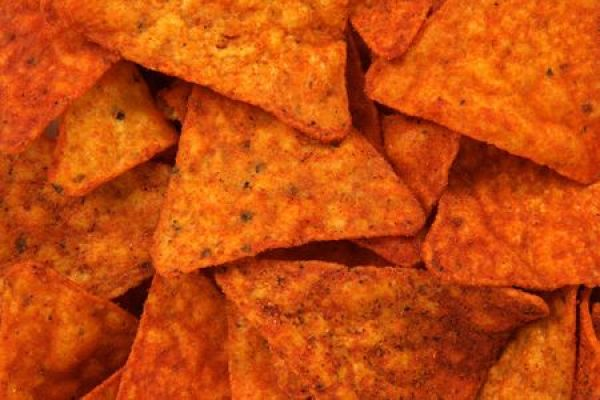 2993645 - hot and spicy corn chips. abstract food textures.