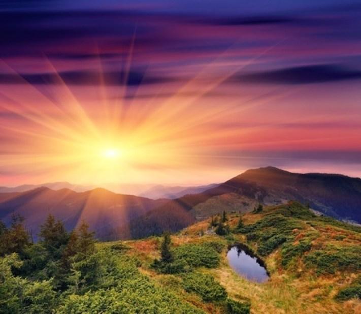 11763757 - dawn in mountains carpathians, ukraine. autumn morning