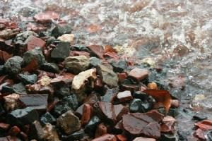 50014303 - heavy rain on gravel