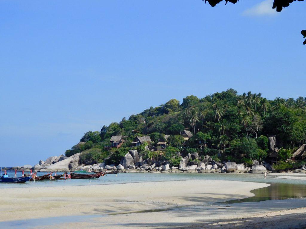 Een prachtig uitzicht vanaf de stranden van Koh Tao