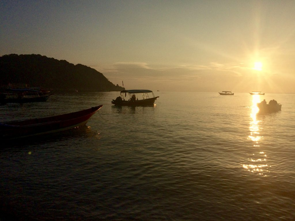 Sunset at Coral Bay, Perhentian Islands