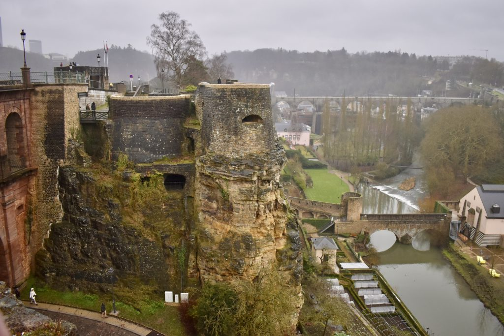 de Kazematten van Luxemburg stad