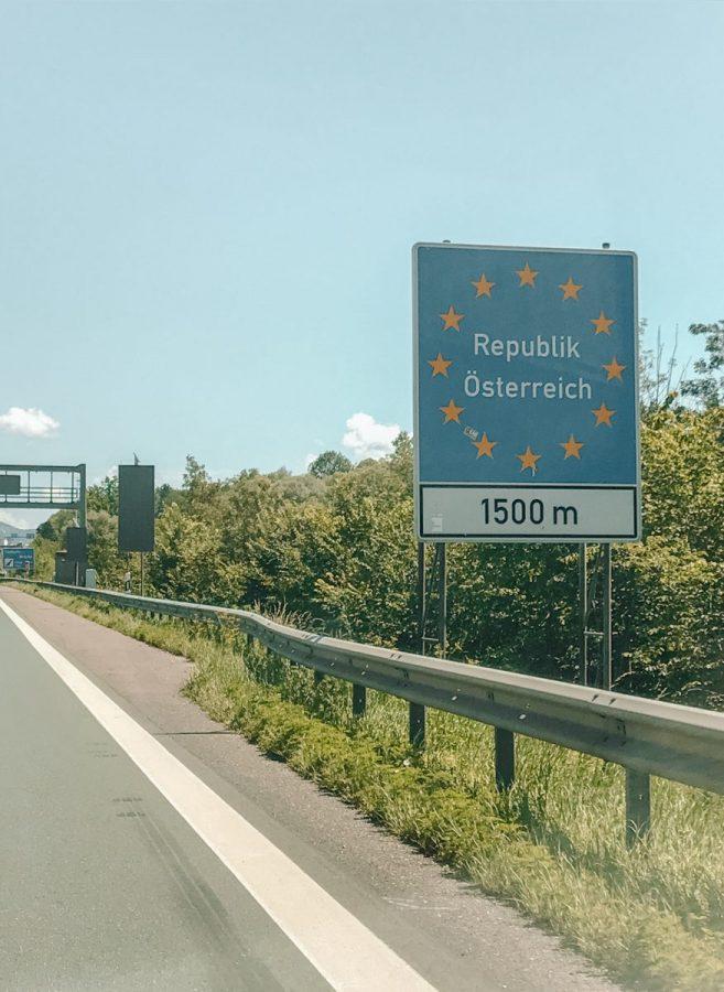 Kosten roadtrip Slovenië 2020 - entering Austria