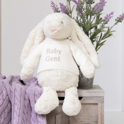 Personalised Jellycat Cream Bashful Bunny Large Soft Toy