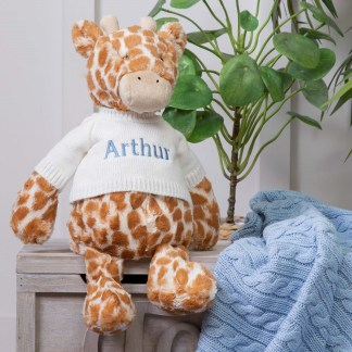 Personalised Jellycat Bashful Giraffe Large Soft Toy