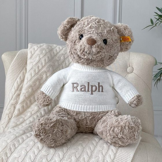 Personalised Steiff honey teddy bear large soft toy