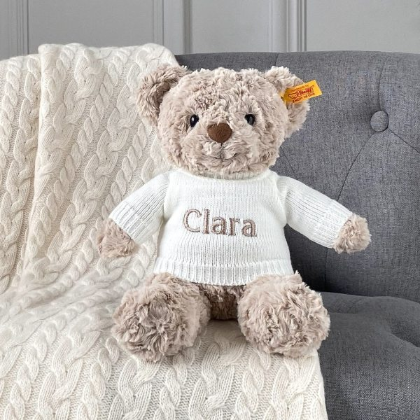 Personalised Steiff honey teddy bear medium soft toy