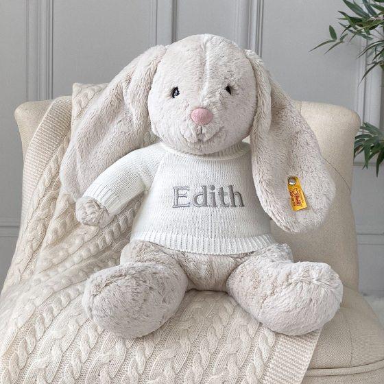 Personalised Steiff hoppie rabbit large soft toy