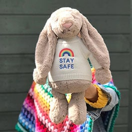 Stay Safe Rainbow Bunnies