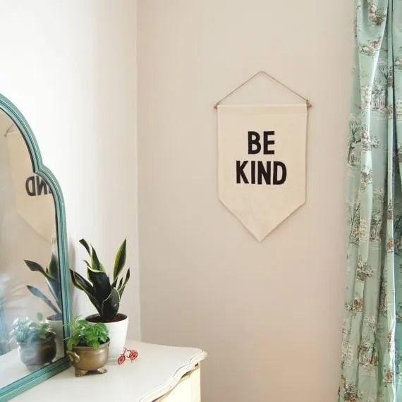 SecretHolidayCo_be kind_banner flag_etsy