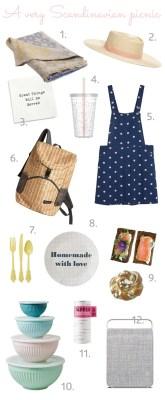 scandinavian picnic essentials summer park