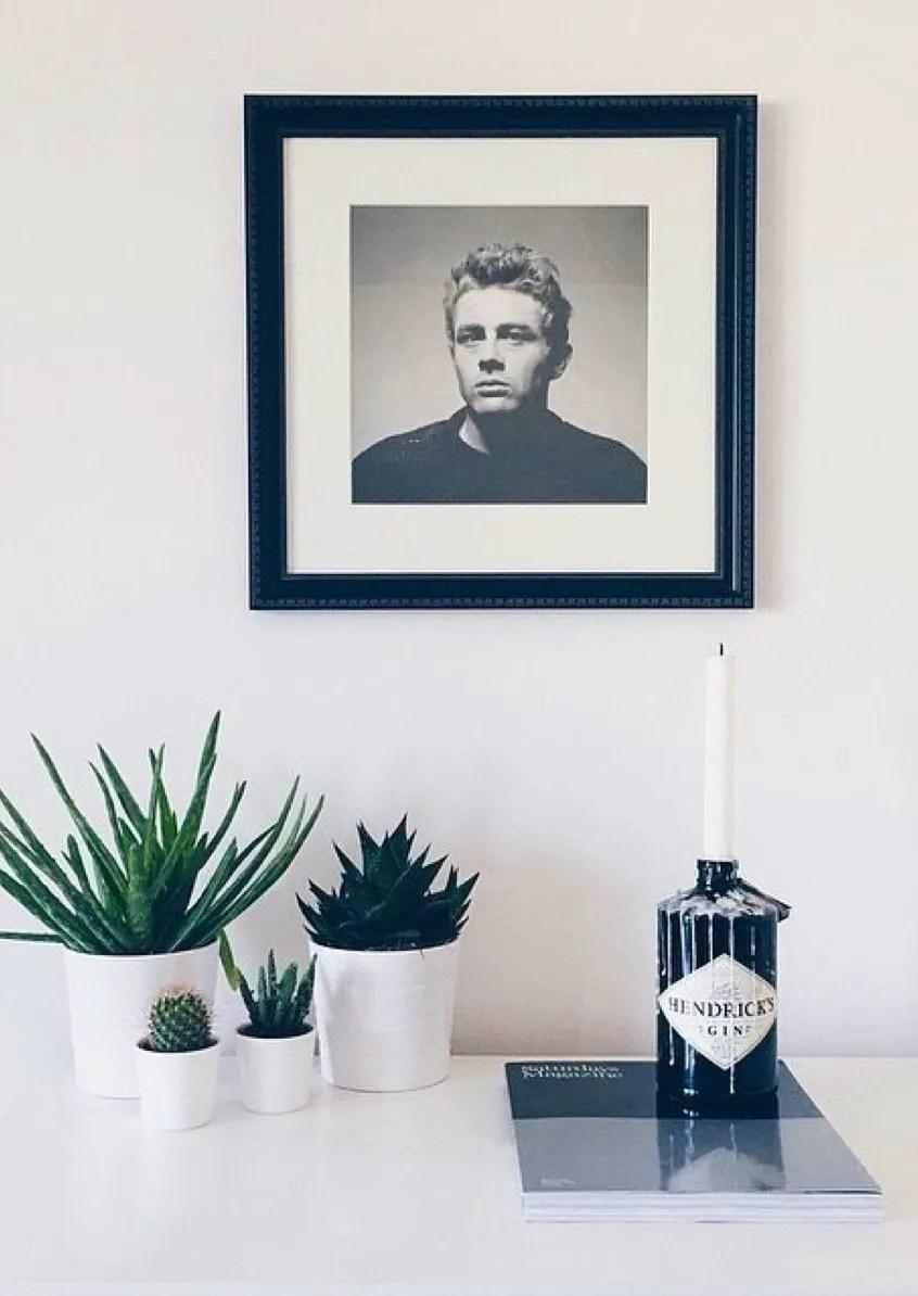 reuse gin bottle candle holder nordic decor