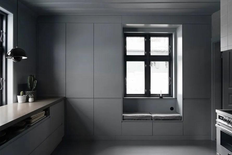 dark moody house swedish kitchen
