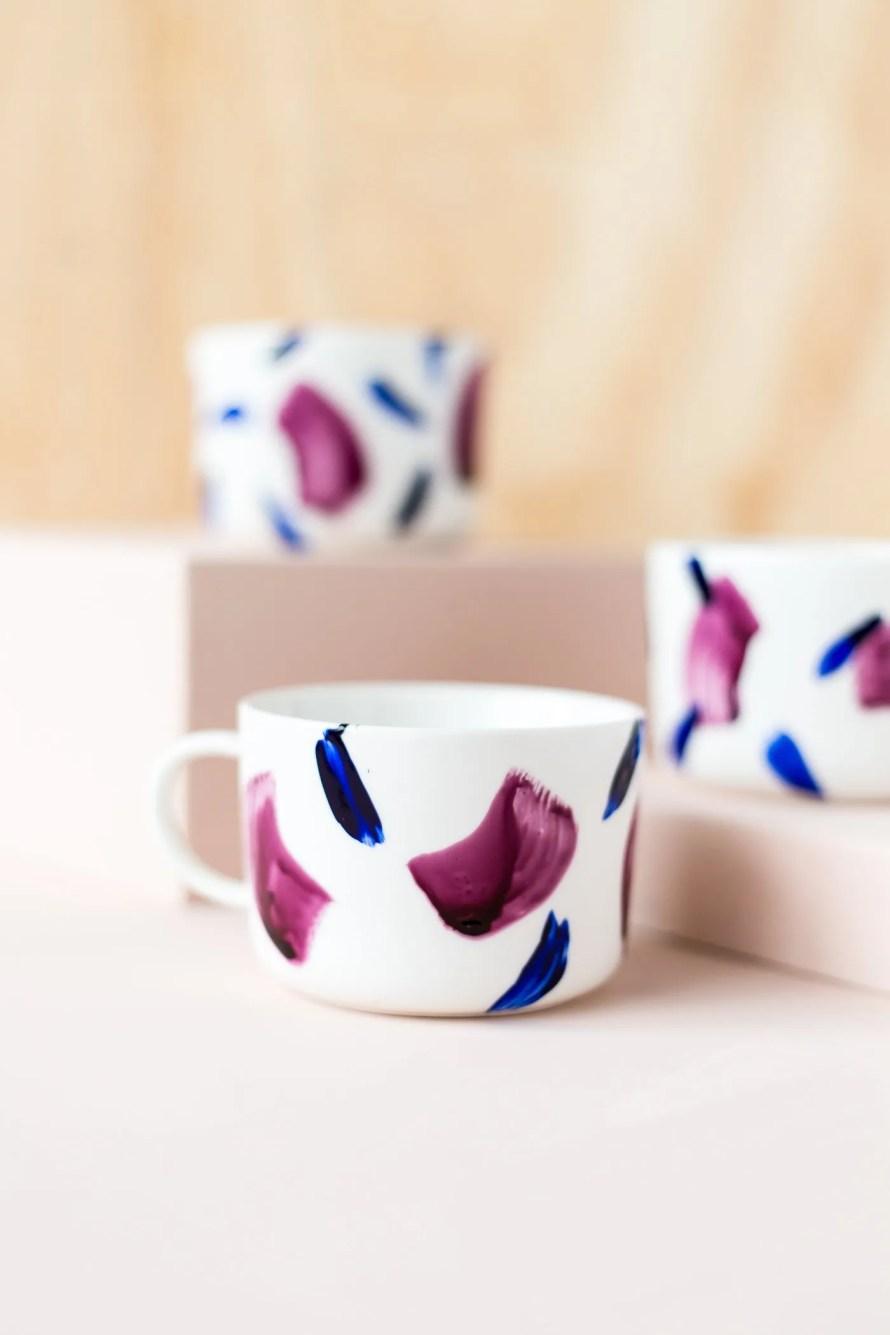 DIY painted mugs scandinavian