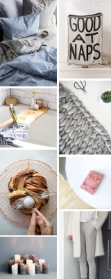 scandinavian winter cozy hygge moodboard