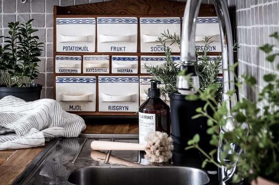 charming home sweden kitchen closeup