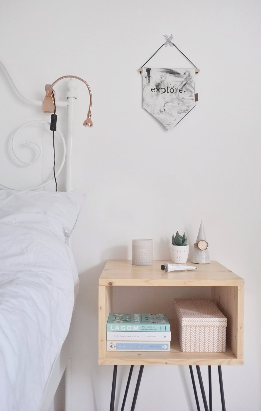 diy interior nightstand hairpinlegs bedroom 1