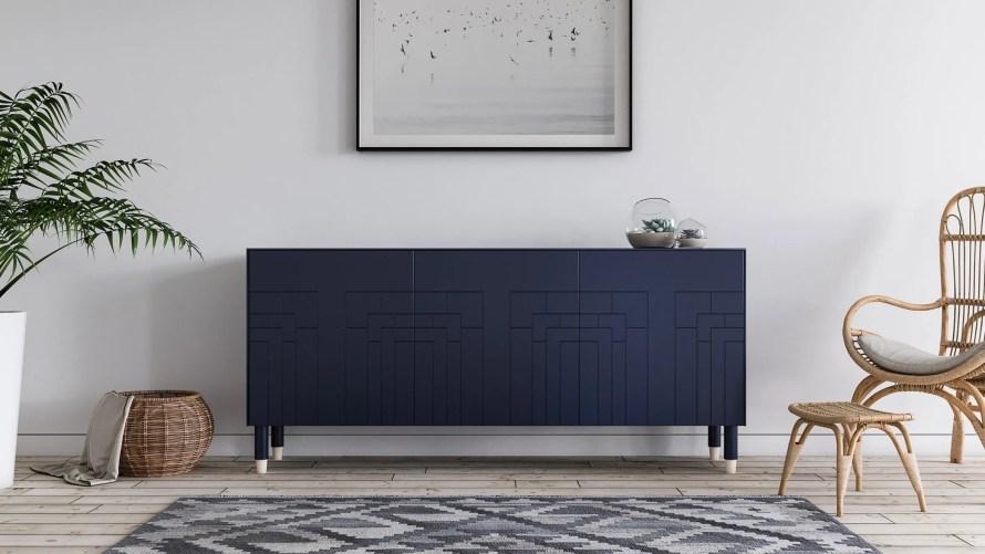 ikea norse cabinet scandinavian home blue