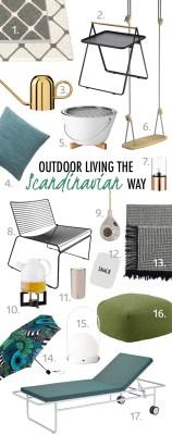 scandinavian summer decor outdoor