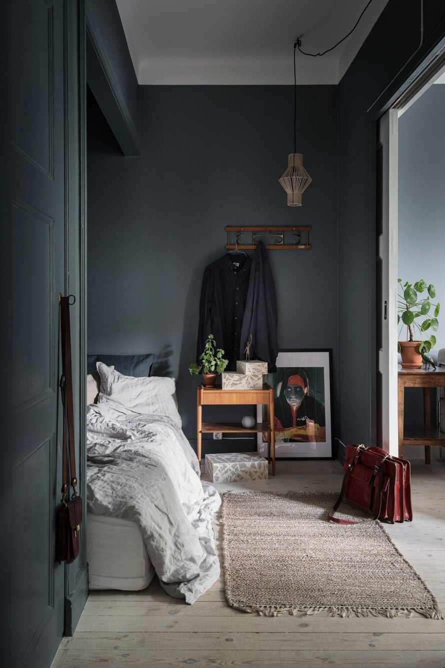 bedroom cozy dark hygge