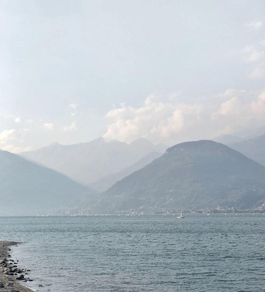 lake sunday italy view