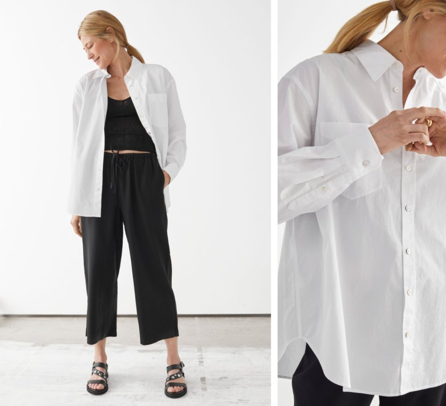 otherstories loungewear shirt minimal outfit