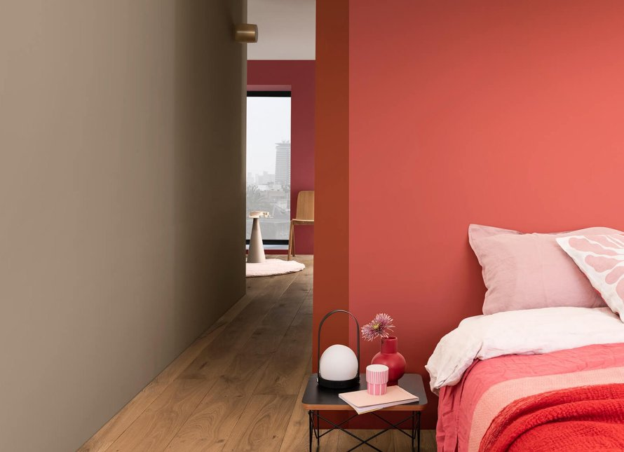 brave ground dulux colour year 2021 interior cozy bedroom