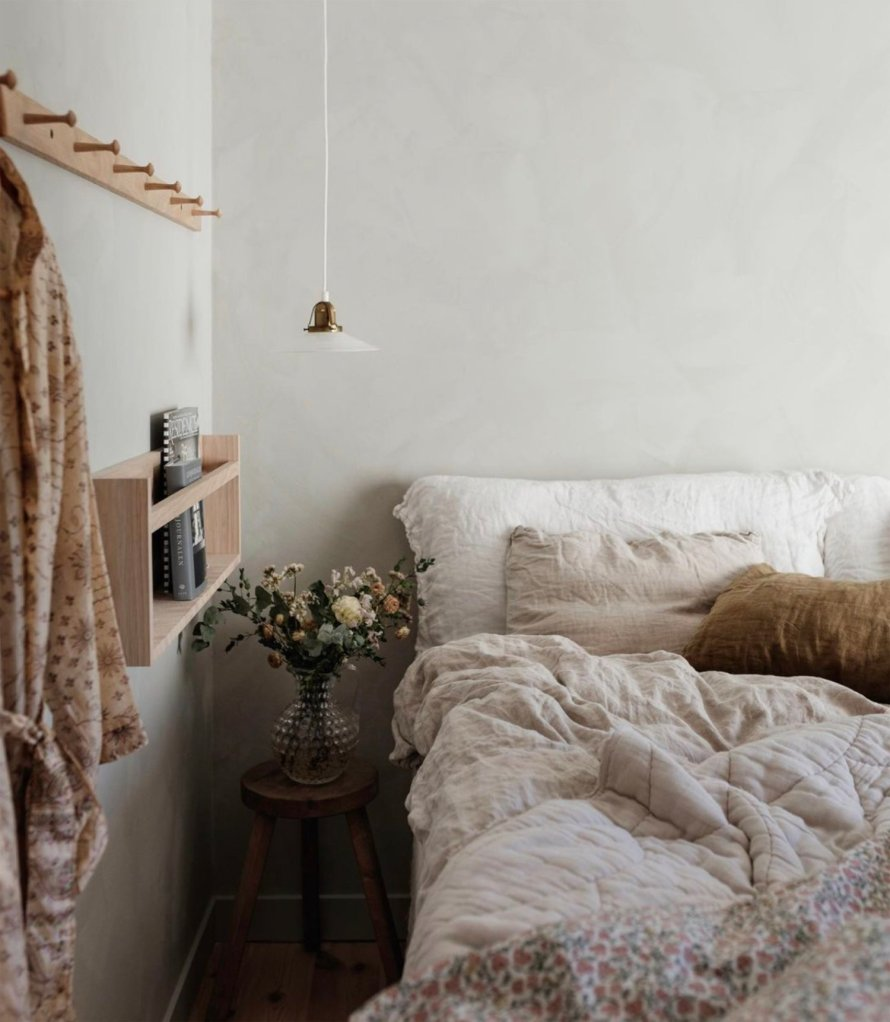 scandinavian feeling bedroom cozy hygge bed 1