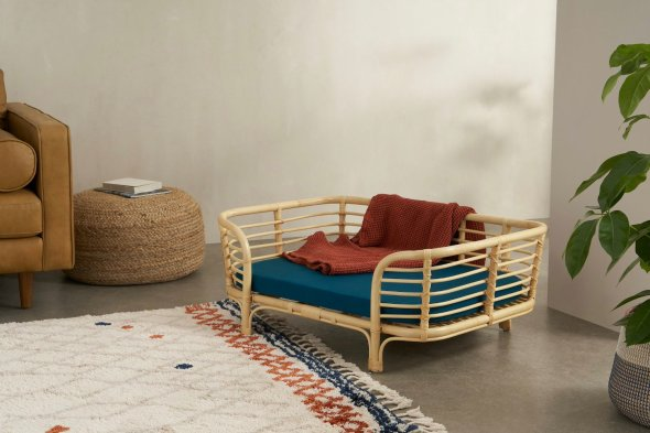 Syla Rattan Pet Bed