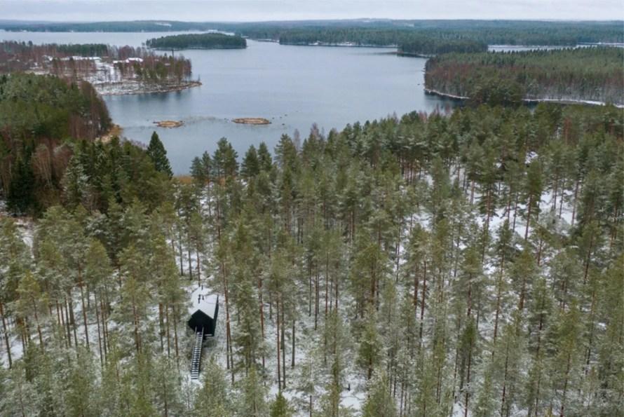 that scandinavian feeling cozy cabin finland forest