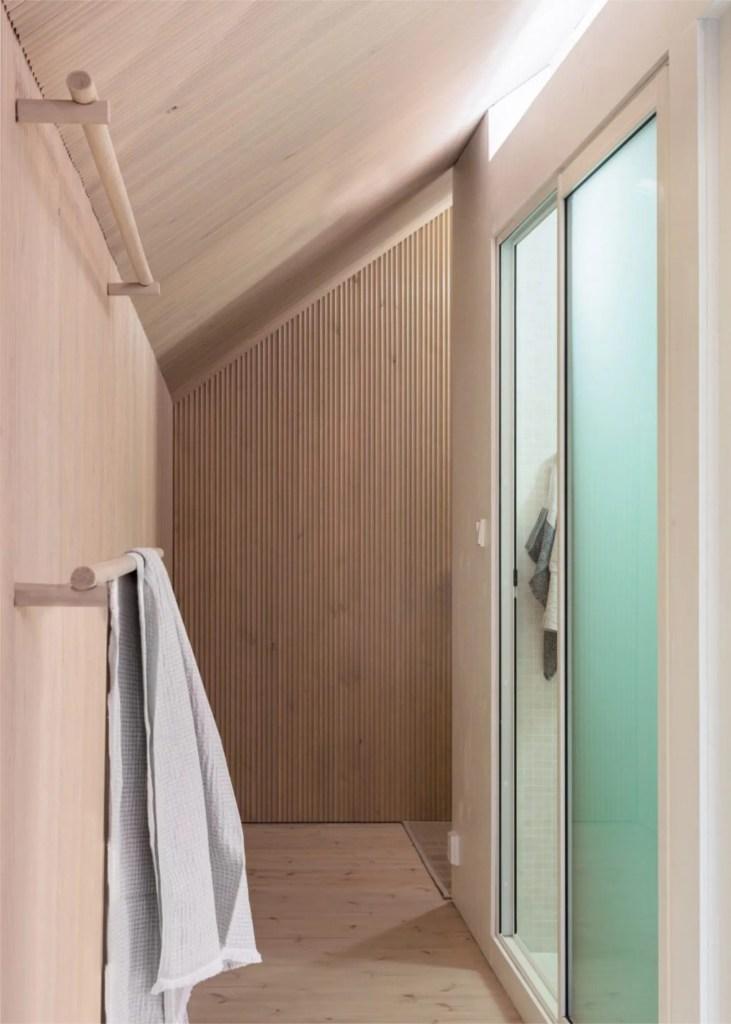 that scandinavian feeling cozy cabin finland interior bathroom