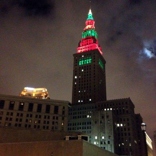 Terminal Tower at Christmas