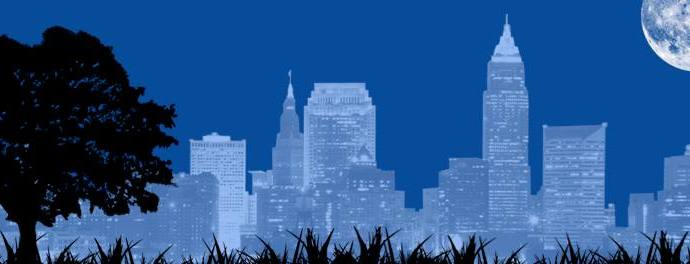 Cleveland Skyline Silhouette