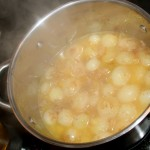 10 minutes to boil the onions, not more or they will fall apart