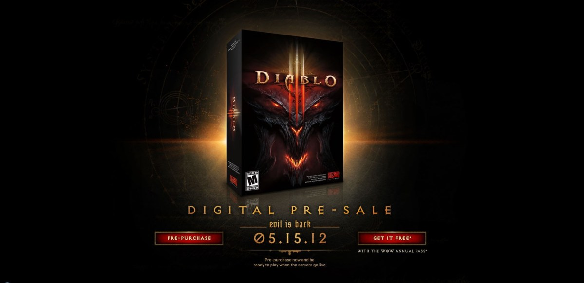 Pre-Orders Available for Diablo III, Not Collectors Edition? | That's It Guys