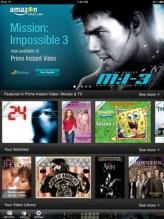 Amazon Instant Video iPad App - Homescreen