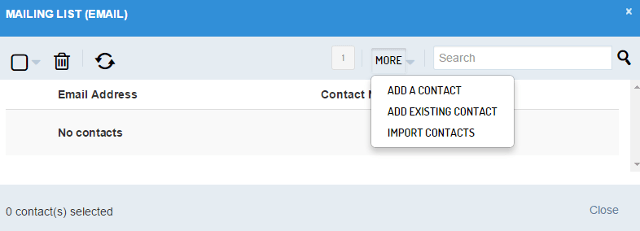 Add contacts to your mailing list in Sendible