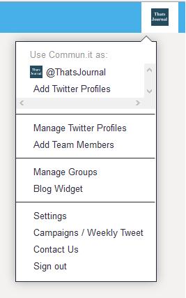 Change account settings in commun.it