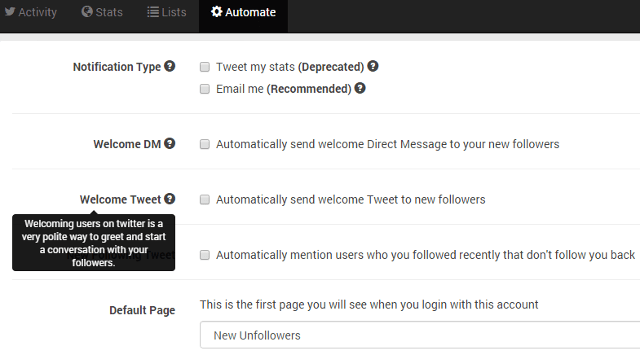 Automate Welcome tweets using Unfollowers