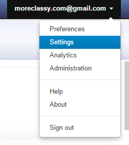Click on Settings in MediaFunnel dashboard