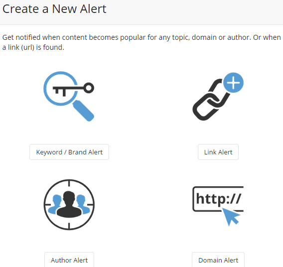 Create a content email alert in BuzzSumo