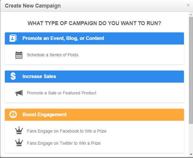 Create social media campaigns in Rignite
