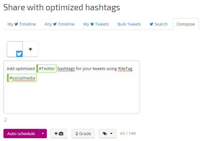 Create tweets by optimizing and analyzing your hashtags in RiteTag