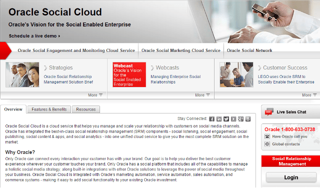 Oracle Social Cloud Social media marketing and management
