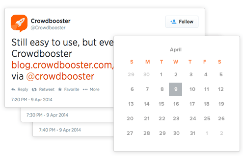 Schedule social media posts based on best time using Crowd Booster