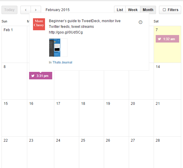 Schedule social media posts by drag and drop calendar