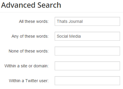Search tweets with OR search in Topsy