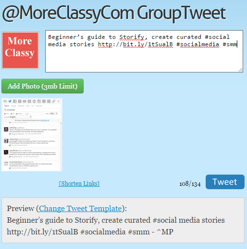 Send tweets from GroupTweet dashboard