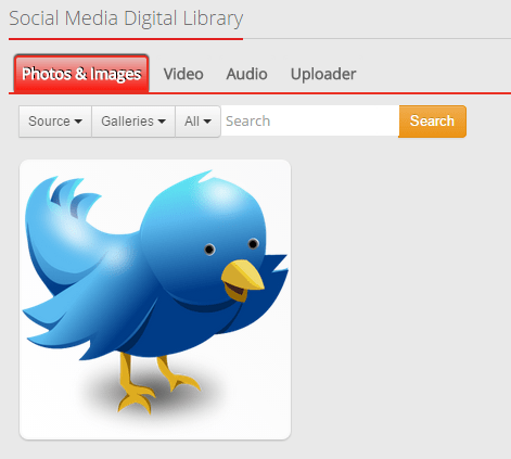 Social media image library in MavSocial
