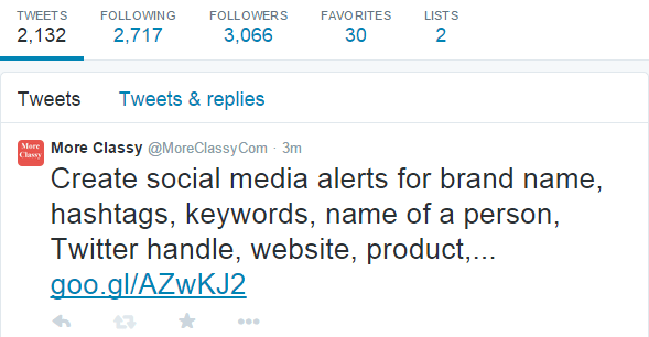 Tweet longer than 140 characters sent by using TweetyMail